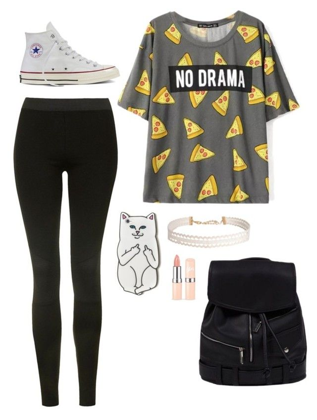 """""""Untitled #3657"""" by if-i-were-famous1 ❤ liked on Polyvore featuring Topshop, Converse, RIPNDIP and Humble Chic"""