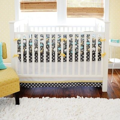 Urban Zoo in Gray 3 Piece Crib Set