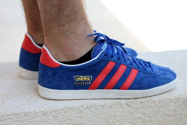 adidas gazelle rouge et bleu