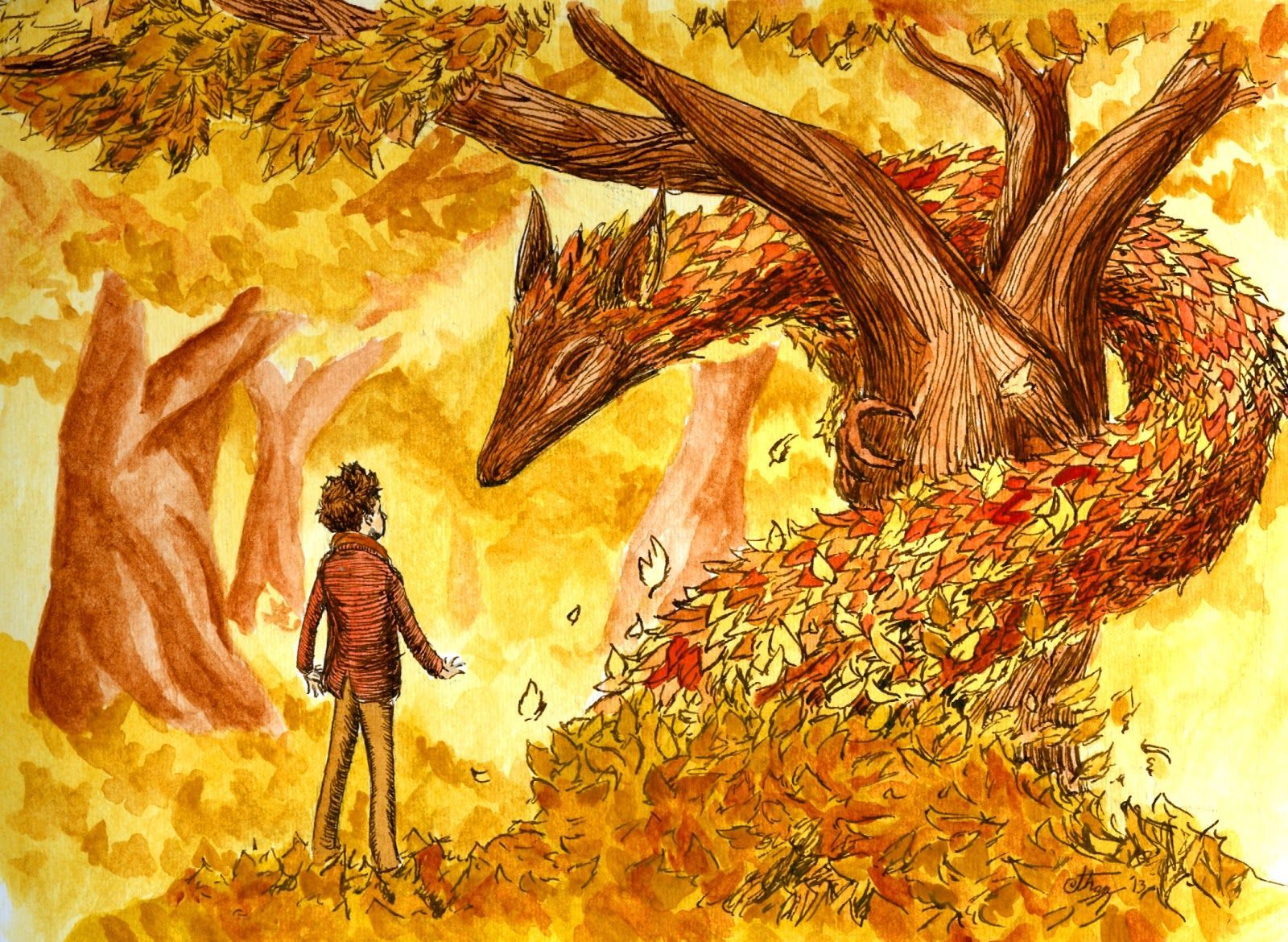 The Art of Ethan Aldridge The Autumn Dragon Autumn art