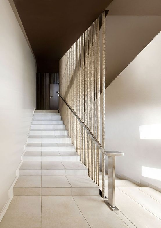 Barandilla de cuerdas casa escalera pinterest - Escaleras de cuerda ...