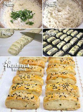 Mikserle Çırpılan Peynirli Çörek Tarifi, Nasıl Yapılır #pizzateig