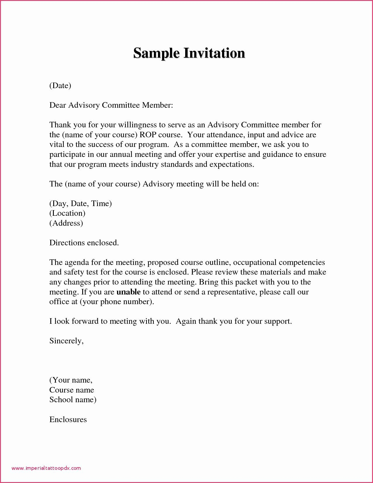 Meet and Greet Invitation Templates Awesome Business Letter format  Invitation formal Letter Templat… in 2020 | Conference invitation, Formal  invitation, Invitation template