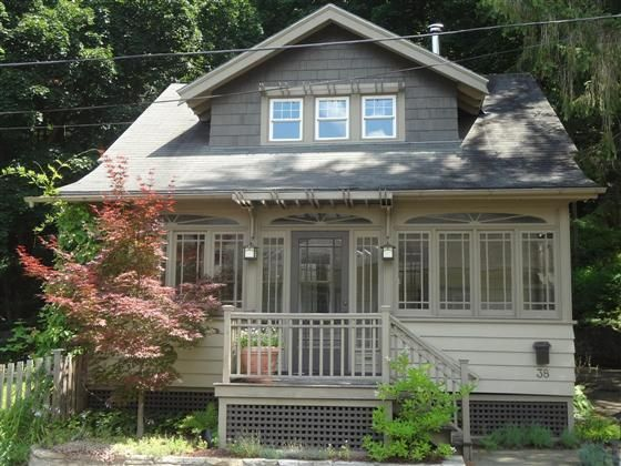 Fantastic Example Of Craftsman Style Home Enclosed Front Porch