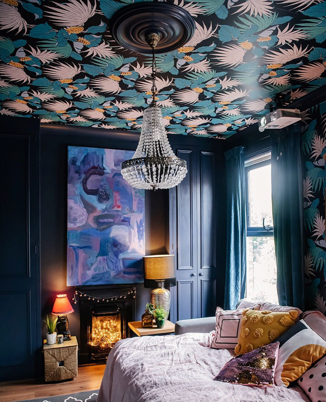 Interior Trends To Try The Decorated Ceiling Melanie Jade Design Wallpaper Ceiling Colored Ceiling Decor