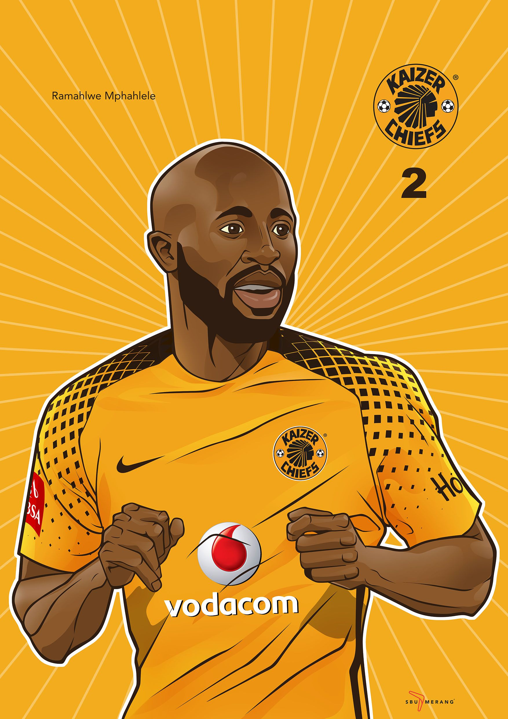 Iwisa Kaizer Chiefs Players Poster Collection Ramahlwe Mphahlele Kaizer Chiefs Soccer Team Chief