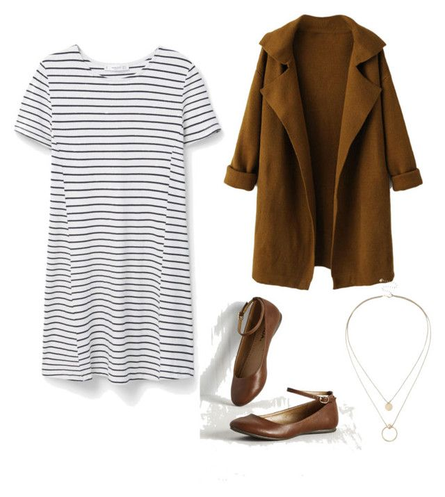 """fall"" by lillllrosebud on Polyvore featuring MANGO, WithChic and Sole Society"