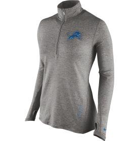 Nike Women's Detroit Lions Stadium Element Grey Half-Zip Pullover - Dick's Sporting Goods