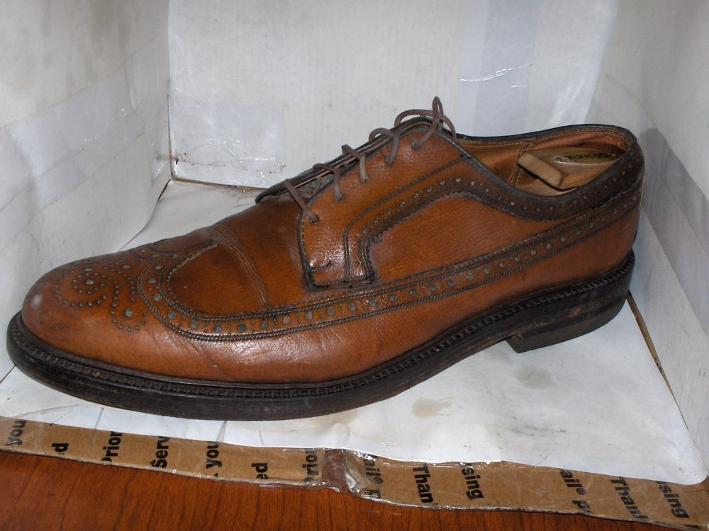 ROCKPORT MENS OXBLOOD LEATHER WINGTIPS BROGUE OXFORDS SIZE 12 M VIBRAM SOLE