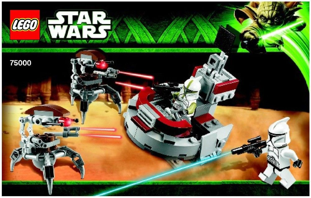 Star Wars Clone Troopers Tm Vs Droidekas Tm Lego 75000