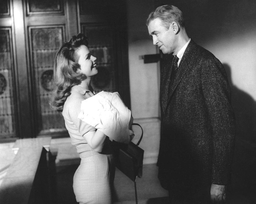 """Jimmy Stewart and Lee Remick in """"Anatomy of a Murder"""" (1959) 
