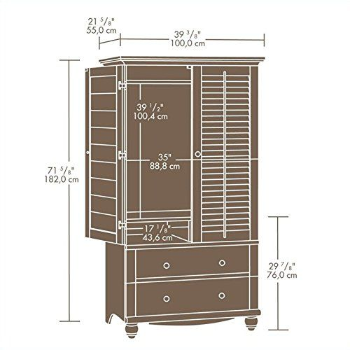 Sauder Harbor View Armoire – Antiqued White http://www ...