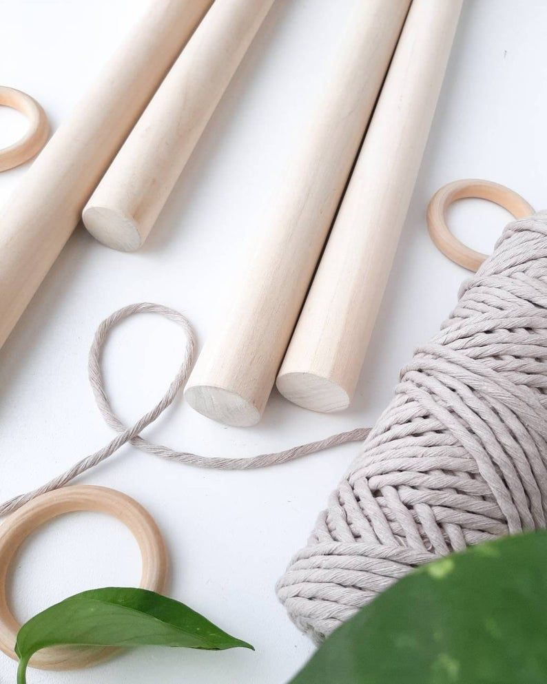 Macrame Dowel Large 1 1 4 Inch Wood Dowel 15 24 Inches Etsy In 2020 Weaving Projects Macrame Supplies Macrame