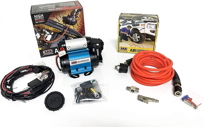 ARB Inflation Kit Air Compressor and Orange Air Hose Pump
