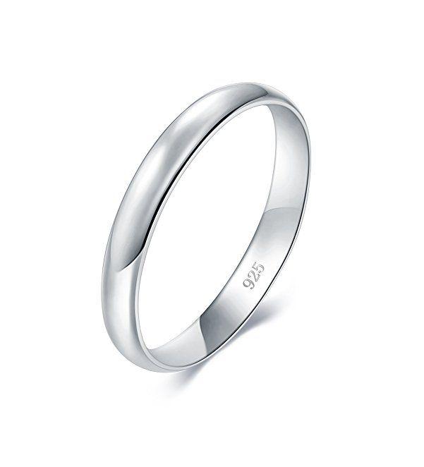 Sterling Silver Plain Wedding comfort Band ring 925 7mm size 10 men /& women