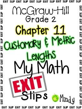 My Math McGraw-Hill Chapter 11 Exit Slips Grade 2 | Math