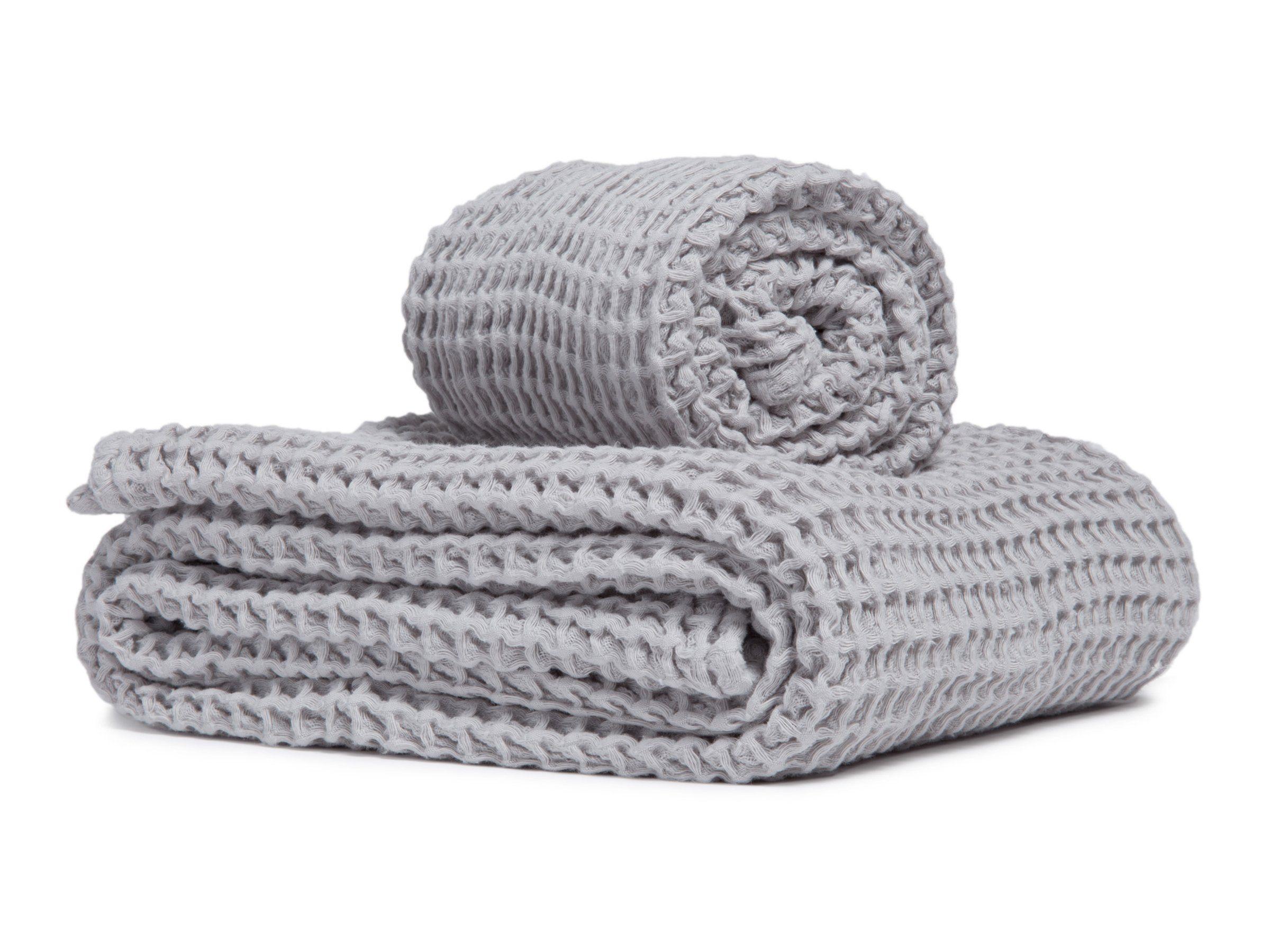 Parachute Home Waffle Towels Hand Towel Grey Best Bath Towels