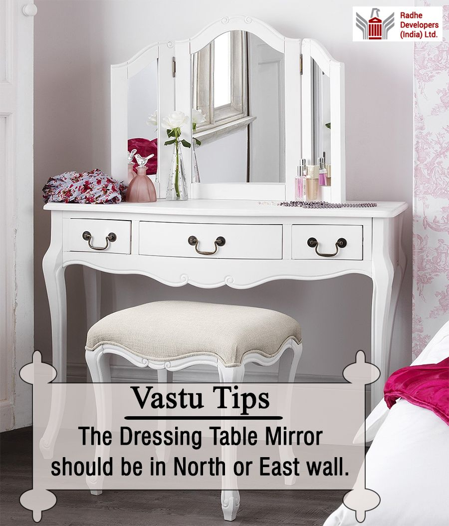 The Dressing Table Mirror Should Be In North Or East Wall Vastutips Radhedevelopers Shabby Chic Bedroom Furniture White Shabby Chic Shabby Chic Dresser