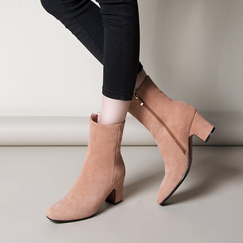 d39a2afee831 Chiko Maureen Square Toe Block Heel Ankle Boots  boots