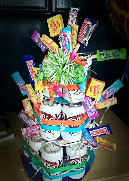 Soda pop bouquet... creative gift.
