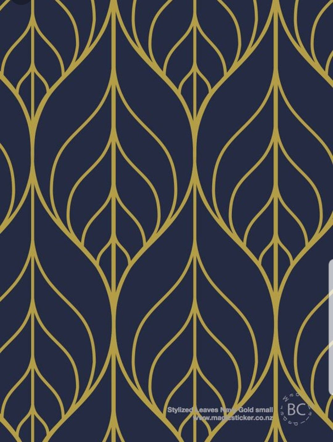 Pin By Jackie Nelson On Living Room Navy Wallpaper Leaf Wallpaper Art Deco Pattern