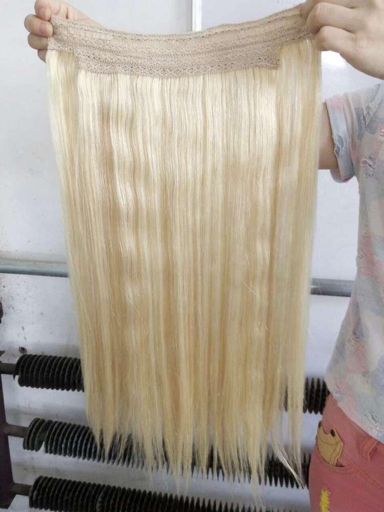 20 100g Flip In Halo Human Hair No Clip No Glue Wire Hair