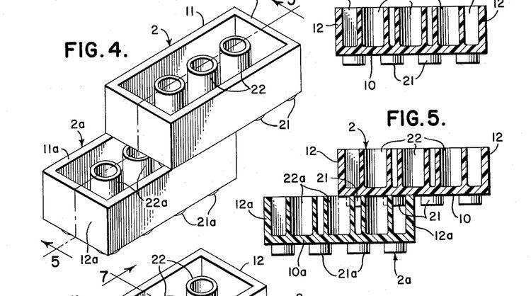 The original 1951 Lego patent (now expired) specifies every possible dimension on its simple plastic bricks and tiny yellow dudes.