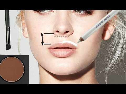 face contouring cupid's bow area  face contouring