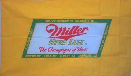 Miller Hi Life Champagne Beer Premium 3 X 5 Flag Miller Beer Banners Signs Beer