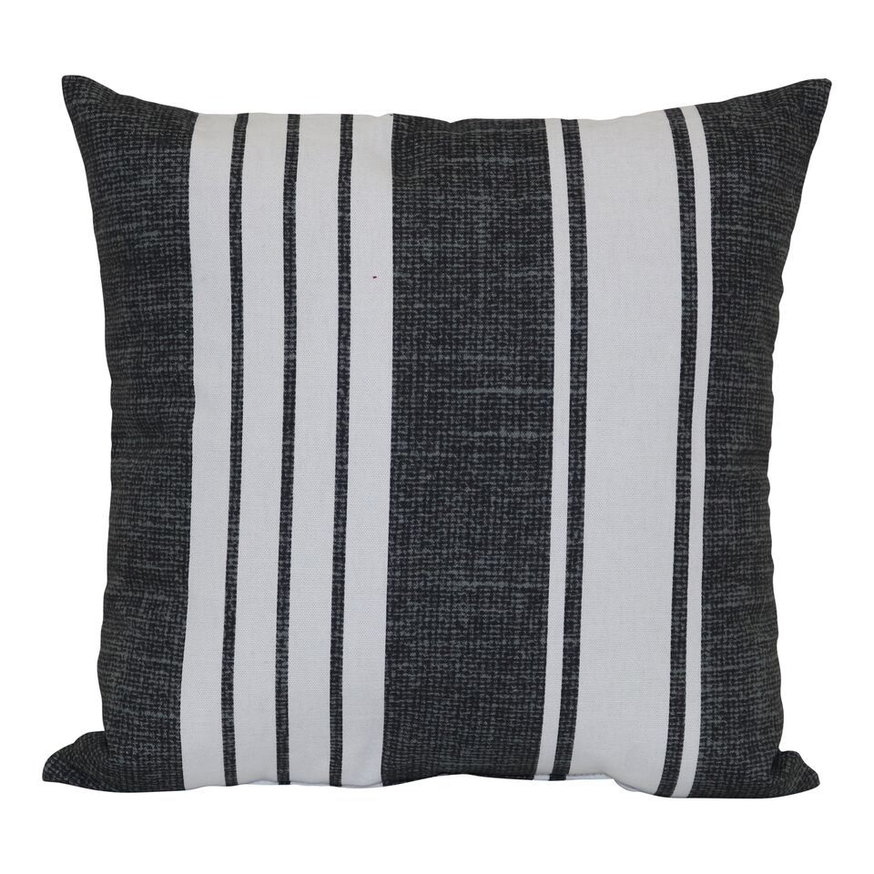 Mainstays Black And White Stripe Outdoor Pillow Walmart Com Striped Outdoor Pillow Outdoor Throw Pillows Outdoor Pillows