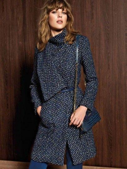 Cappotto blu in lana dalla collezione autunno inverno 2013 2014 di Liu J Liu  Jo b29a9b963bc