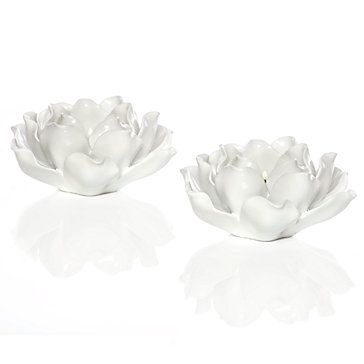 Really Like These White Ceramic Resin Tealights Maybe For