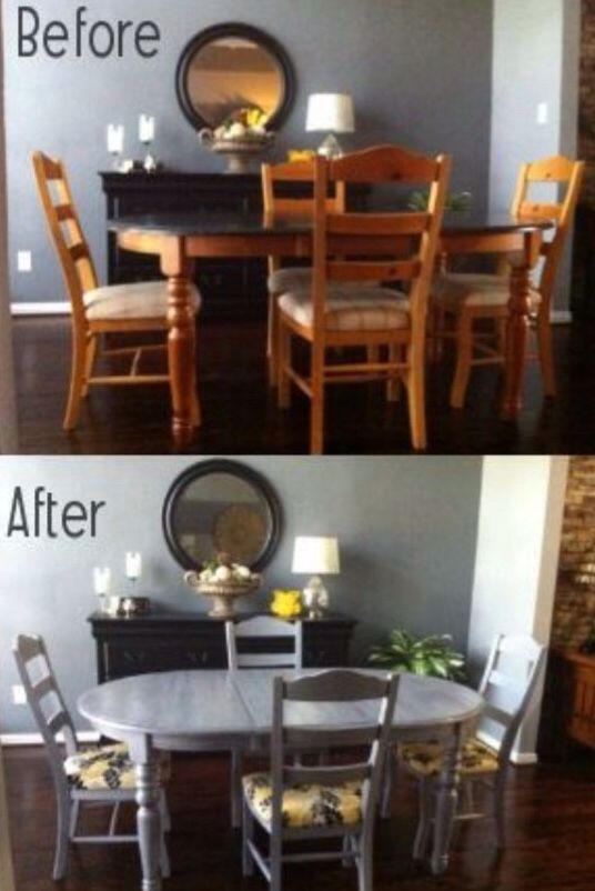 Dinning Room Make Over  Home Decor  Pinterest  Room New Ideas For Painting Dining Room Table And Chairs Inspiration Design