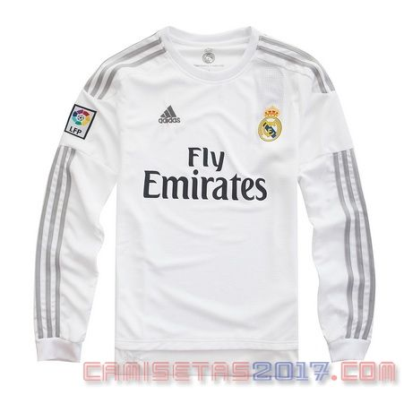 Camiseta manga larga Real Madrid 2015 2016 primera  2af203a7fd8ef