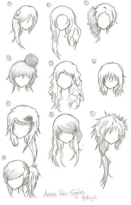 Photo of 65 Trendy Ideas For Hair Drawing Short Girl Manga Anime