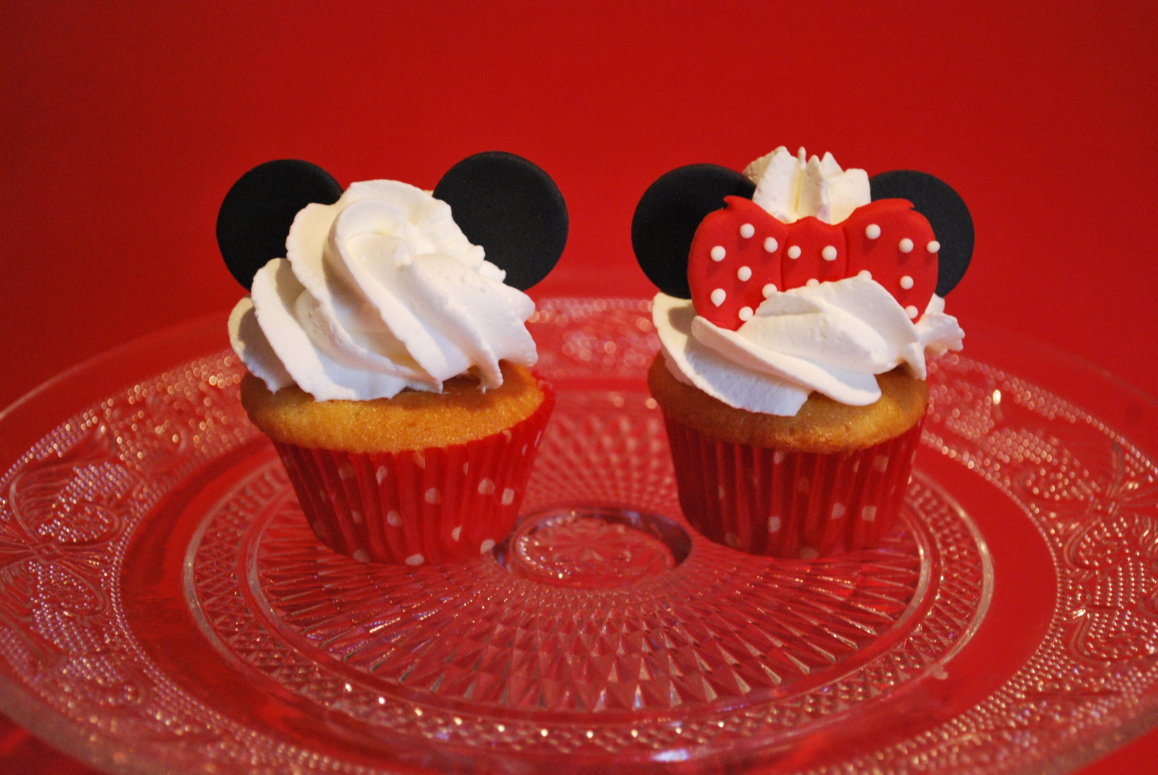 Minicupcakes Minnie y Mickey