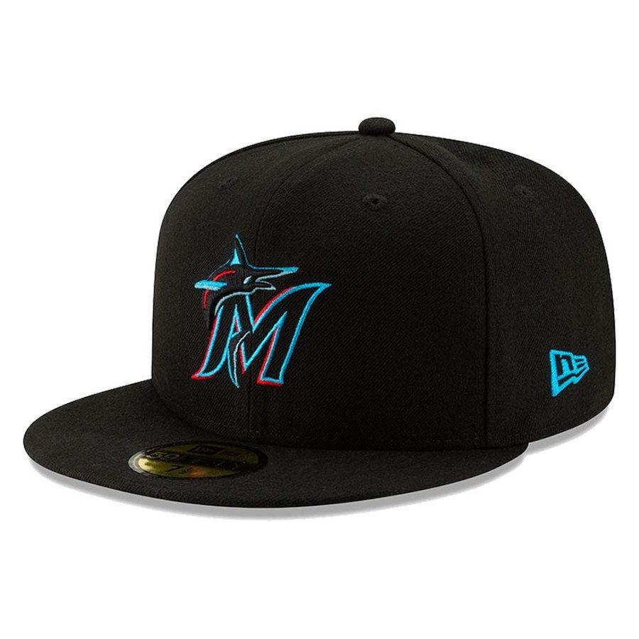 af428c10251 Men s Miami Marlins New Era Black 2019 Authentic Collection On-Field ...