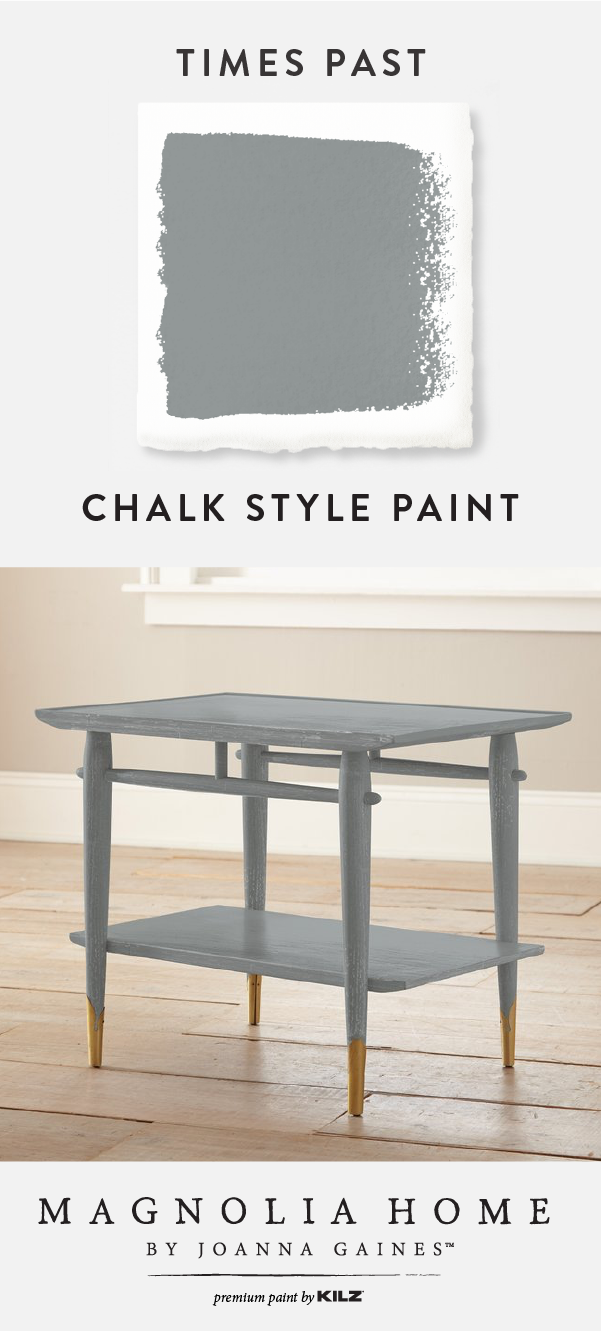 We're in love with this Chalk Style Paint color, Times Past, from the  Magnolia Home by Joanna Gaines™ Paint collection. This dark gray paint color  offers a ... - Times Past - Chalk Style Paint In 2018 Paint Colors Pinterest