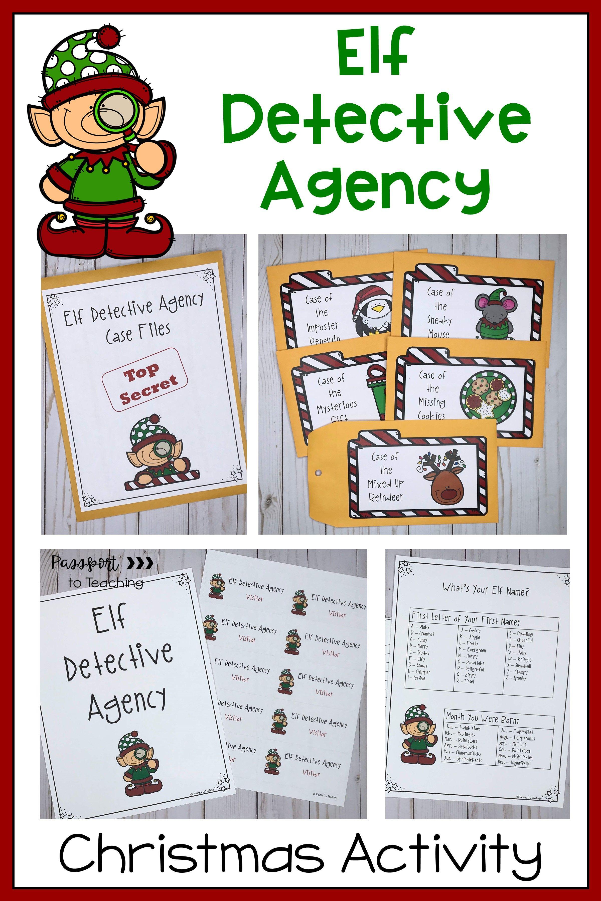 Elf Detective Agency Christmas Activity