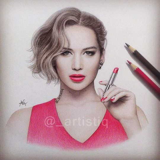 My favourite @_artistiq: Here's my new drawing of Jen! ❤️ follow me for more celebes art.