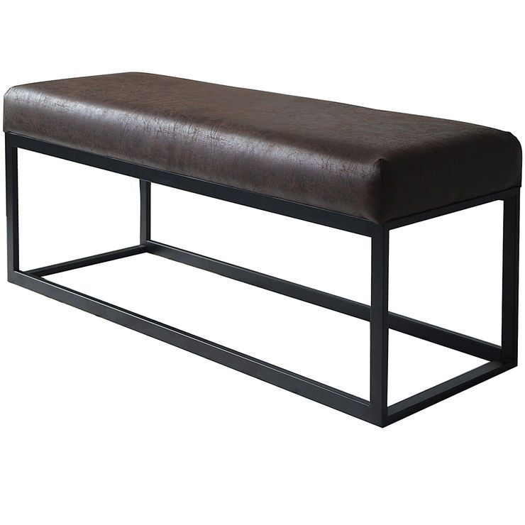 Best Marcelo Metal Base Bench With Images Blue Accent 400 x 300