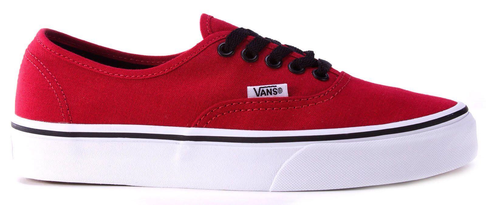 Red Vans with black laces | Cool vans