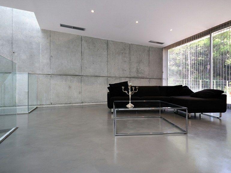 Revestimiento de pared suelo ultra fino de cemento - Paredes de microcemento ...