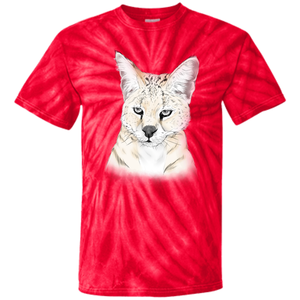 Frosty the White Serval Color CD100Y Youth Tie Dye TShirt