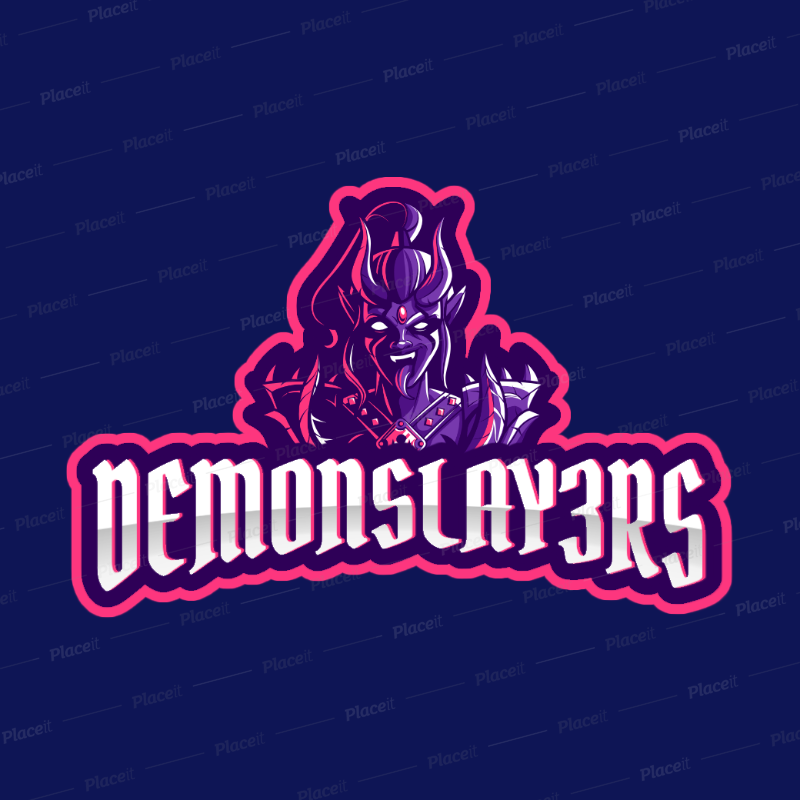 Placeit World Of Warcraft Inspired Gaming Logo Template Featuring A Female Demon Clipart Female Demons World Of Warcraft Logo Templates