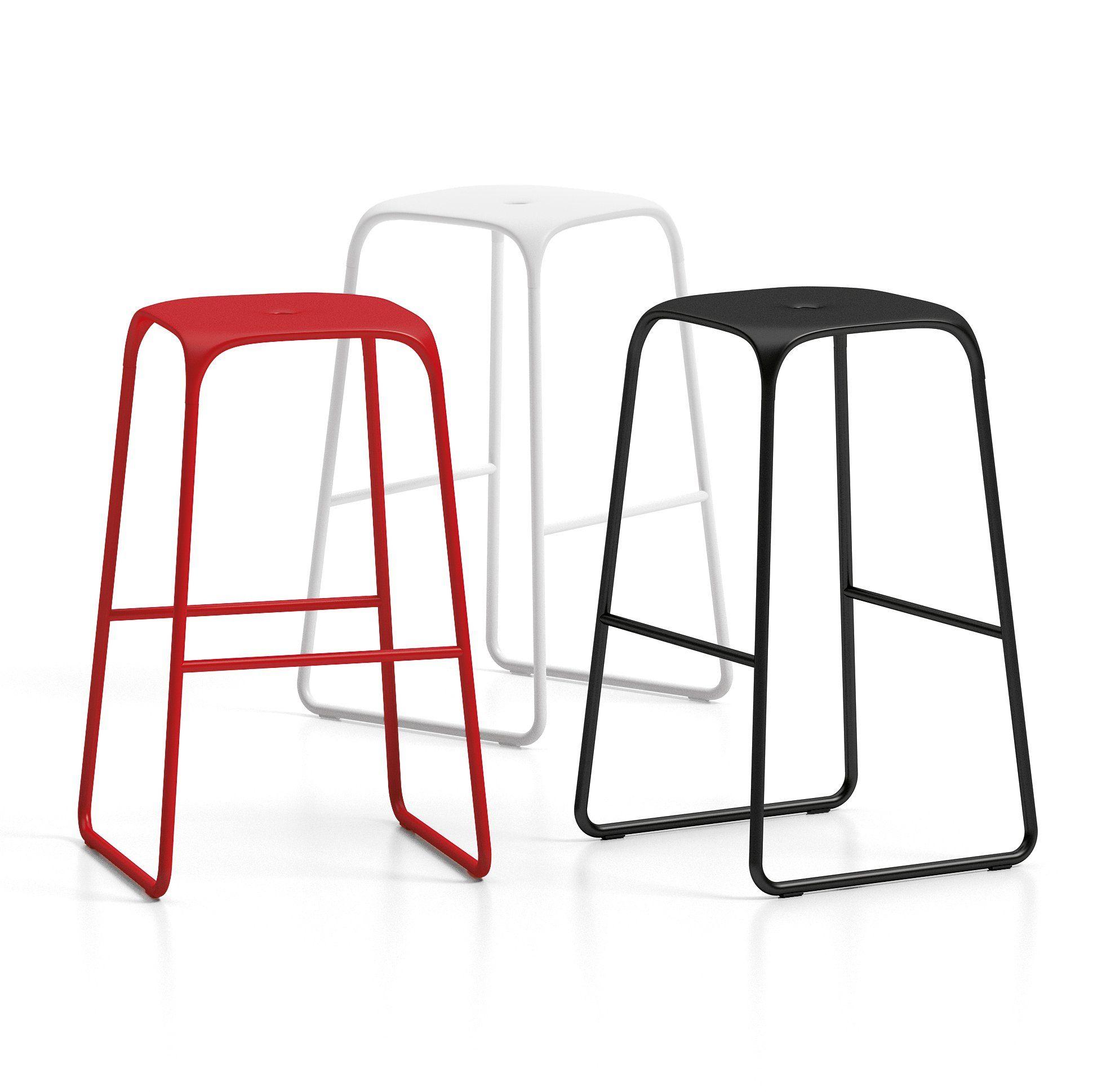 Bobo Infiniti minimalistic modern kitchen stool in steel frame and ...
