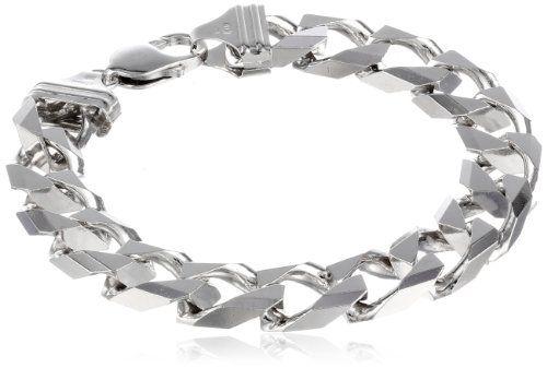 58 Off Was 189 00 Now Is 79 00 Men S Sterling Silver Italian Solid Curb Link Bracelet Bracelets Link Bracelets Bracelets Silver