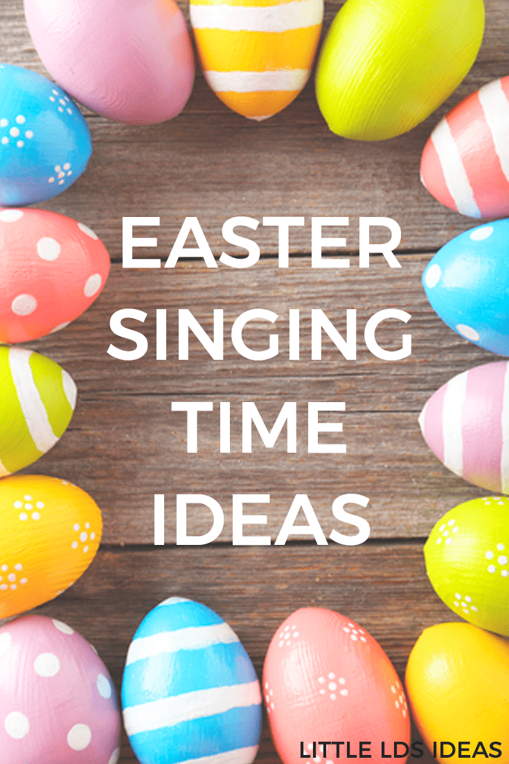 Need some fun Easter Singing Time Ideas for Primary this month? Here are some fun, and easy, ideas that would be perfect! Ideas from Little LDS Ideas. #howtosing