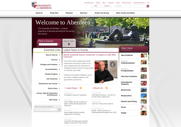 Aberdeen direct link won't pin http://www.abdn.ac.uk/about/teachers.php