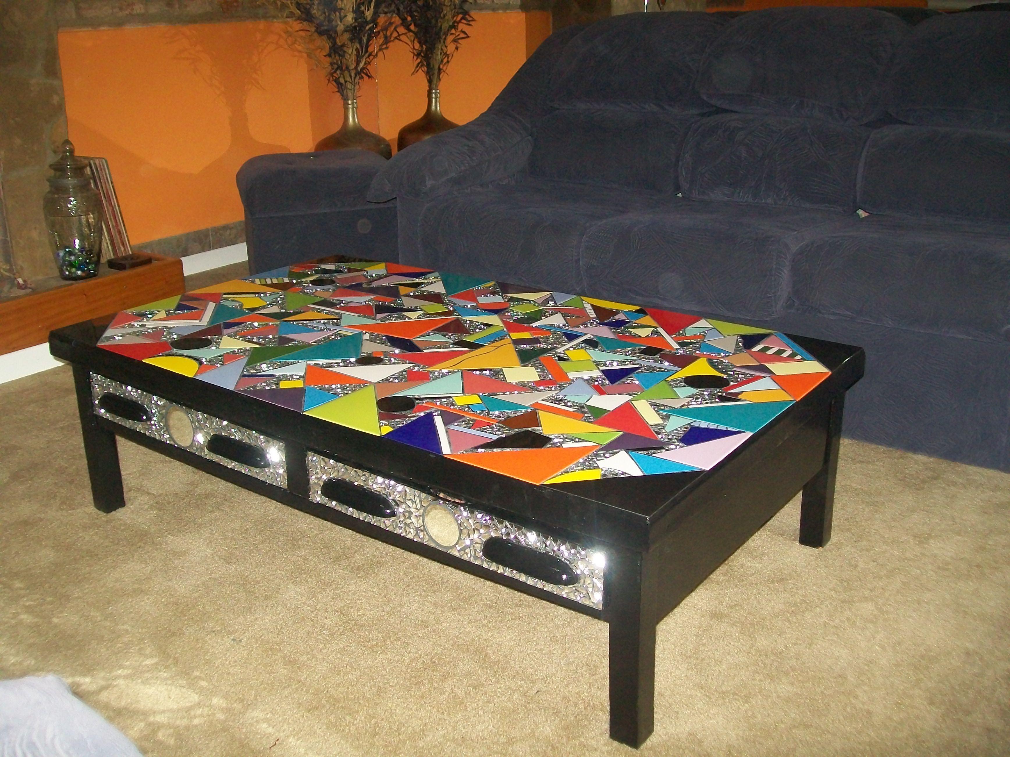 Reciclaje dise o decoracion mesa alta reformada para for Mesa ratona
